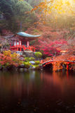 temple de Daigo-JI en automne photo stock