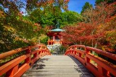 Temple de Daigoji en automne, Kyoto, Japon Image libre de droits