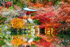 Temple de Daigoji en automne, Kyoto Saisons d'automne du Japon Photos stock