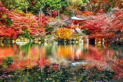 Temple de Daigoji en automne, Kyoto Saisons d'automne du Japon Images libres de droits