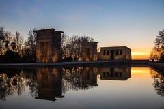 Temple de Debod à Madrid Image stock