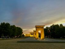 Temple de Debod à Madrid Espagne photo stock