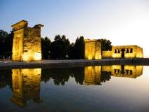 Temple de Debod au coucher du soleil photos libres de droits