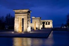 Temple de Debod au crépuscule Images libres de droits