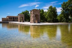 Temple de Debod, Madrid, Espagne - l'UNESCO Photo stock