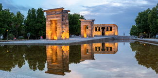 Temple de debod Madrid Royalty Free Stock Photos