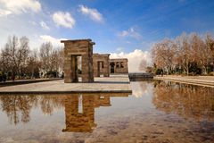 Temple de Debod view from an angle Royalty Free Stock Photo