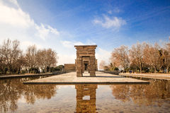 Temple de Debod view from centre Royalty Free Stock Image