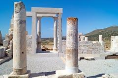 Temple de Demeter, île de Naxos Image stock