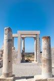 Temple de Demeter, île de Naxos, Grèce photographie stock libre de droits