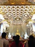 Temple de dent à Kandy Sri Lanka image libre de droits