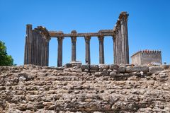 Temple de Diana Evora portugal Photo stock