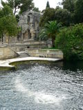 Temple de Diane, Jardins de la Fontaine, Nimes ( France ) Stock Photography
