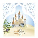 Temple de Dieu de Jérusalem de ville d'olives de ville de sable vieux Images libres de droits