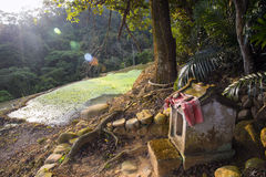 Temple de divinité de village images stock