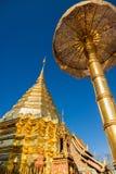 Temple de Doi Su Thep, Chiangmai, Thaïlande Image stock