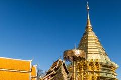 Temple de Doi Su Thep, Chiangmai, Thaïlande Images libres de droits