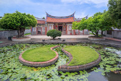 Temple de famille à pingtung, Taïwan Photo stock