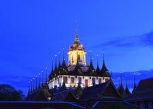 Temple de fer l'endroit célèbre de Bangkok Photos libres de droits