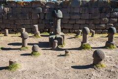 Temple de fertilité les Andes péruviens chez Puno Pérou photographie stock libre de droits