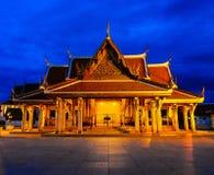 Temple de Gloden au crépuscule. Photo libre de droits
