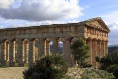 Temple de Grec de Segesta Photo libre de droits