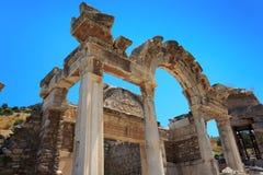 Temple de Hadrian Images libres de droits