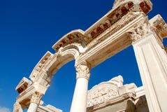 Temple de Hadrian, Ephesus, Turquie, Images libres de droits
