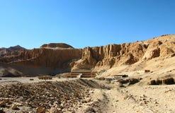 Temple de Hatshepsut. l'Egypte Images libres de droits