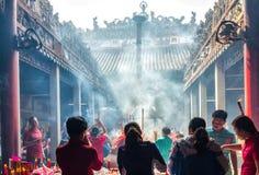 Temple de Hau activant le jour de nouvelle année lunaire Image libre de droits