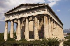 Temple de Hephaestus à Athènes Images libres de droits