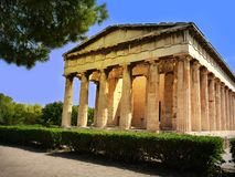Temple de Hephaestus - lieu de culte du grec ancien en agora o photo stock