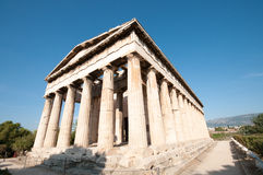 Temple de Hephaistos, Athènes Grèce Image stock