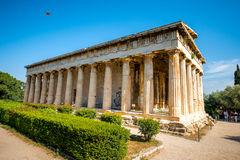 Temple de Hephaistos en agora près d'Acropole Image libre de droits