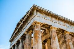 Temple de Hephaistos en agora près d'Acropole Photo libre de droits
