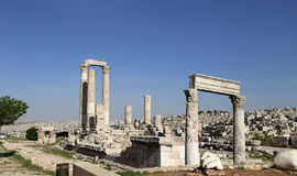 Temple de Hercule, Amman, Jordanie Images libres de droits