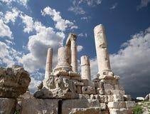 Temple de Hercule, Amman, Jordanie Photo libre de droits