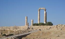 Temple de Hercule, citadelle d'Amman, Jordanie Photographie stock