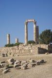 Temple de Hercule, citadelle d'Amman, Jordanie Photo stock