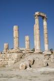 Temple de Hercule, citadelle d'Amman, Jordanie Photos libres de droits