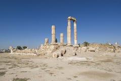 Temple de Hercule, citadelle d'Amman, Jordanie Photographie stock libre de droits