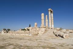 Temple de Hercule, citadelle d'Amman, Jordanie Photo libre de droits