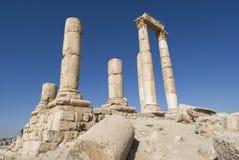 Temple de Hercule, citadelle d'Amman, Jordanie Images stock