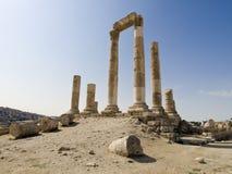 Temple de Hercule dans ci d'Amman image libre de droits