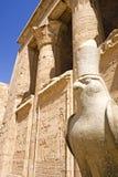 Temple de Horus chez Edfu Images libres de droits