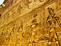 Temple de Horus chez Edfu - groupe Images stock