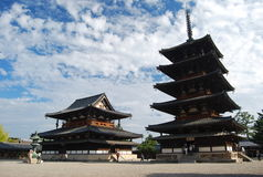 Temple de Horyuji, Ikaruga Image stock