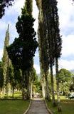 Temple de jardin au bedugul Photographie stock