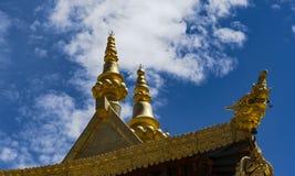 Temple de Jokhang à Lhasa, le Thibet Photo libre de droits