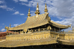 Temple de Jokhang - Lhasa - Thibet - Chine Photo libre de droits